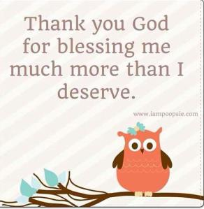 undeserved blessings